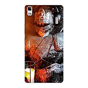 Enticing Warrior Knight Print Back Case Cover for Lenovo K3 Note