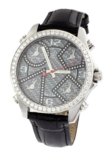 f5b5cac2a08871 Compare   Jacob Co Black Band Five Time Zone Carbon Fiber Dial 2 45Ct Diamond  Watch JCM97DA !