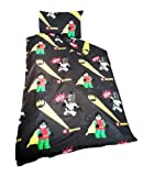 KIDS LEGO BATMAN ROBIN SINGLE BED DUVET QUILT COVER & PILLOWCASE SET DC COMICS