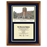 University of Michigan Diploma Frame with U of M Lithograph Art Print ~ Old School Diploma...