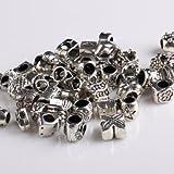 BeautyLife 40X Tibetan Silber-Legierung Perlen gemischte Modelle