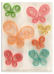 Martha Stewart Crafts Quilled Butterfly Stickers By The Package