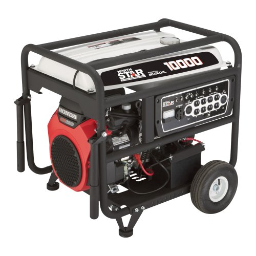 Northstar Portable Generator - 10,000 Surge Watts, 8500 Rated Watts, Electric Start