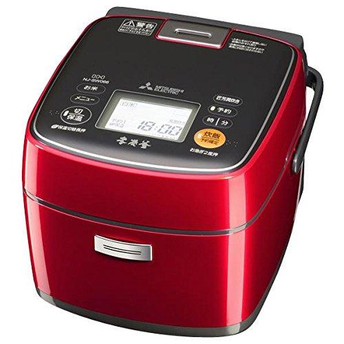 三菱電機 IHジャー炊飯器 本炭釜 3.5合炊き ルビーレッド NJ-SW066-R