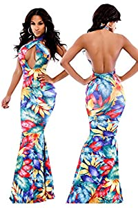 Vestido De Renda Mermaid Evening Dress Sexy Women: Sports & Outdoors