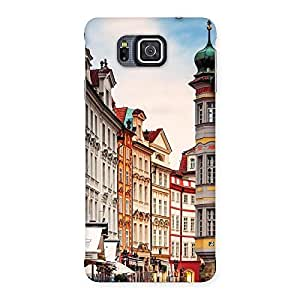 Impressive Prague Street Multicolor Print Back Case Cover for Galaxy Alpha