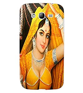 ColourCraft Lovely Lady Painting Design Back Case Cover for SAMSUNG GALAXY GRAND Z I9082Z