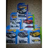 Hot Wheels Lamborghini, Lot Of 6 Different! Includes: Sesto Elemento In White And Silver, Aventador J In Yellow...