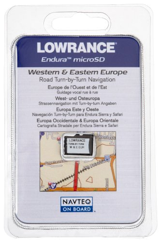 Lowrance Navteq Western  &  Eastern Europe Turn-By-Turn Street Navigation On MicroSD Card
