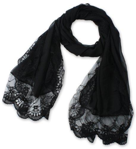 corciova-Womens-Long-Lace-Imitated-Silk-Scarf-Black