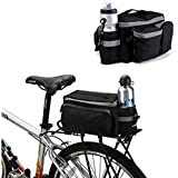 BicycleStore® Mountain Road MTB Bicycle Bike Cycling Sport Waterproof 7L Rear Seat Bag Pannier Trunk Bag Bicycle Accessories Black