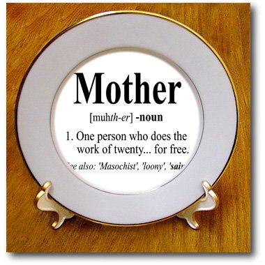 Evadane - Funny Quotes - Mother Definition. - Plates - 8 Inch Porcelain Plate - Cp_193598_1
