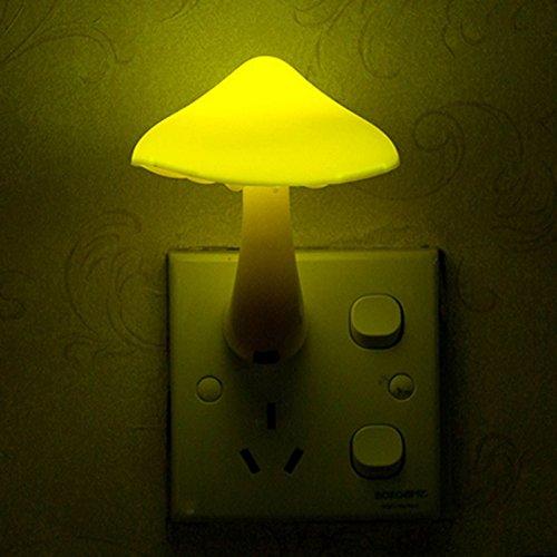 Mushroom Night Light Energy Saving LED Sensor Lamp for Kids Bedroom/Bars/Party/Home - US Plug