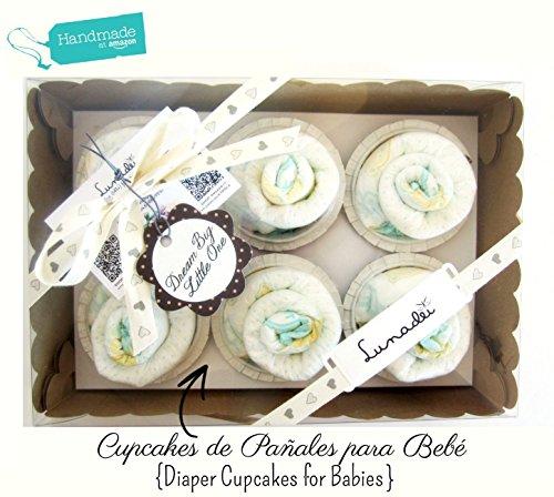 Scatola di Cupcakes fatti con Pannolini DODOT | Baby Shower Gift Idea | Scatola Regalo Personalizzabile | Idea Regalo Originale per Bebé | Disponibile nella versione per Femminucce, per Maschietti e Unisex!