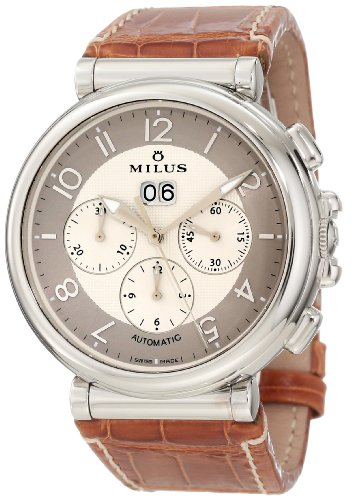 Milus Men's ZETC007F Stainless Steel with White Dial Watch