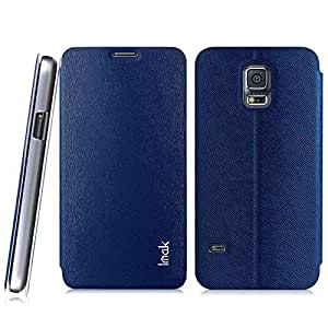 Newtronics Blue Colour Imak squirrel pattern Premium Luxury PU Leather Flip Stand Hard Back Case Cover For Samsung Galaxy S5 Mini