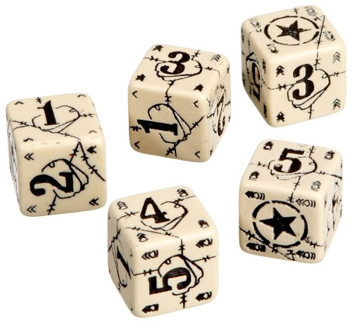 Axis & Allis - USA Dice: Beige/Black (5) Board Game - 1
