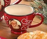 Grasslands Road Old World Santa Ceramic Teacup 3-Inch Red