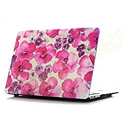 DHZ MacBook Air 13 Inch Case - Rose Red Flowers Ultra Slim Lightweight Rubber Coated Soft Touch Plastic Hard Cover For Apple MacBook Air 13.3