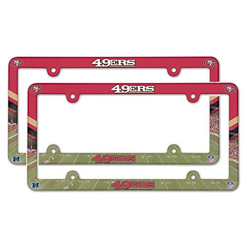 San Francisco 49ers Plastic License Plate Frame - 2 Pack (Forty Niner License Plate Frame compare prices)