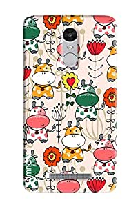 Omnam Cow Printed Pattern Beautifully Design Printed Designer Back Cover Case For Xiaomi Redmi Note 3