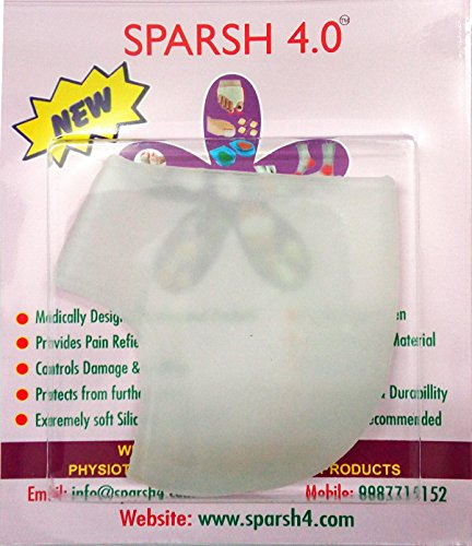 """Sparsh 4.0 Sparsh 4.0"""" One Single Piece Silicon Gel Heel Protector for Heel and Foot Pain, Calcaneal Spur, Plantar Fascitis"""