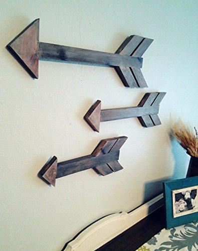 Rustic Wooden Arrows Set of 3 Arrows Wood Arrow Decor Arrow Wall decor Rustic Home Decor Arrow Sign Modern Wood Arrow - Nagina International