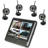 "DBPOWER® Wireless 4CH CCTV DVR Day Night Security Camera Surveillance System 4 digital Cameras with 7"" TFT LCD DVR"