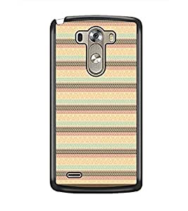 PrintDhaba Tribal Pattern D-1737 Back Case Cover for LG G3 (Multi-Coloured)