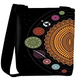 Snoogg spiral solar system 2792 Womens Carry Around Cross Body Tote Handbag Sling Bags