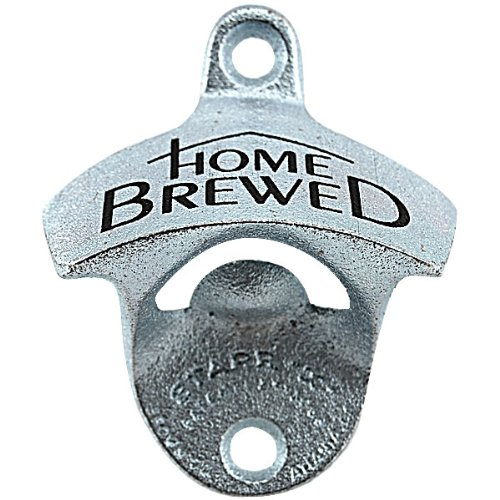 Home Brewed Stationary Wall Mounted Bottle Opener