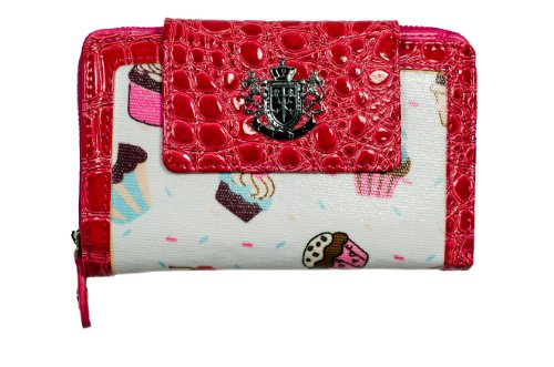 Womens Ladies LYDC Designer Cupcake Print White Purse Clutch Wallet Bag P54 By Classyshades