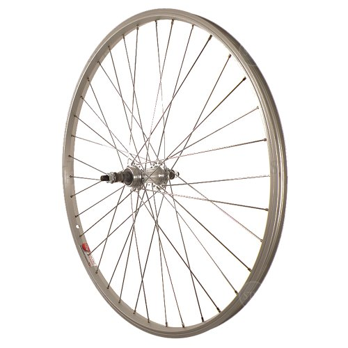 Sta-Tru Silver Alloy ATB 6-7 Speed Freewheel Hub Rear Wheel (26X1.5-Inch)