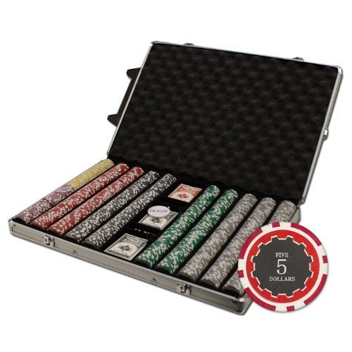 Brybelly 1000-Count Eclipse Poker Chip Set In Rolling Aluminum Case, 14Gm