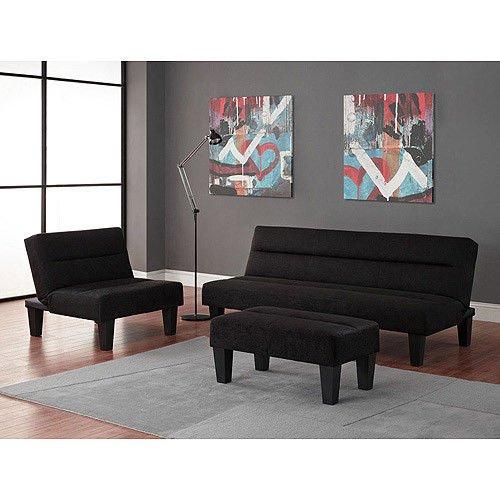 get price for Black - 3pc Modern Futon Sofa Living Room ...