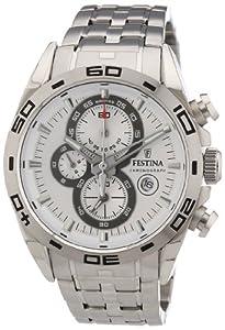 Festina Herren-Armbanduhr XL Analog Quarz Edelstahl F16654/1