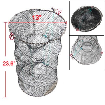 Como Collapsible Dual Entrance Crab Lobster Fishing Trap Net