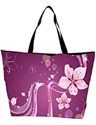 Snoogg Abstract Flower Designer Waterproof Bag Made Of High Strength Nylon - B01I1KKI4S