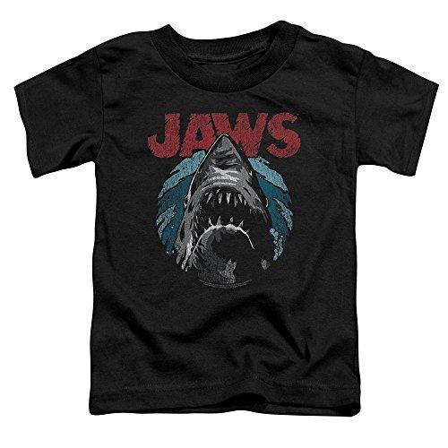 Jaws Spielberg Thriller Movie Cartoon Sketched Shark Attack Little Boys Tod Tee