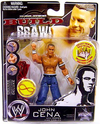 Buy Low Price Jakks Pacific WWE Wrestling Build N' Brawl Wrestlemania 25th Anniversary Mini 4 Inch Figure John Cena (B0026266N0)