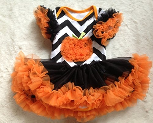 Chevron Pumpkin Tutu Dress with Leg Warmers with Bracelet for Mom