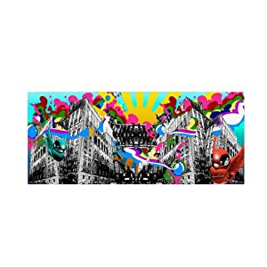"""Rainbow"""" Artwork by Miguel Paredes, 20 by 47-Inch: Posters & Prints"""