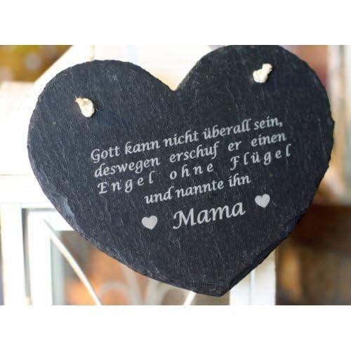 condecoro schiefer mama spruch muttertag geburtstag geschenk mutter herz. Black Bedroom Furniture Sets. Home Design Ideas