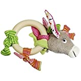 Kathe Kruse Donkey Rosina Grabbing Toy with Wooden Ring Discontinued by Manufacturer by Kathe Kruse