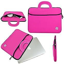 13 inch Macbook Air Sleeve, Macbook Pro Sleeve, KOZMICC 13 13.3 Inch Premium Neoprene MacBook Sleeve Case (Pink) w/ Handle for Apple MacBook Air, Apple MacBook Pro with Retina Display, Apple MacBook