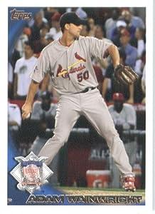 2010 Topps Update Baseball Card #US-125 Adam Wainwright - St. Louis Cardinals ( All Star Game ) MLB Trading Card in Screwdown Case