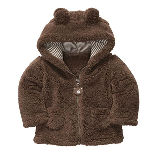 FEITONG Cute Warm Style Kids Baby Boys Girls Hoodies Coat Thick Tops Outerwear
