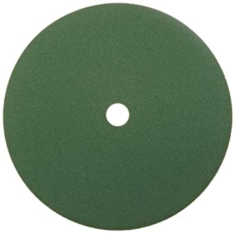 "Norton GreenLyte SG F968 Abrasive Disc, Fiber Backing, Aluminum Oxide, 7/8"" Arbor, 9-1/8"" Diameter, Grit 80  (Box of 5)"