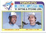 1982 Topps # 606 J Mayberry/D Stieb Toronto Blue Jays Baseball Card