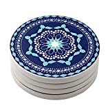 Lifver 3.9-Inch Coaster, Porcelain, Set of 4
